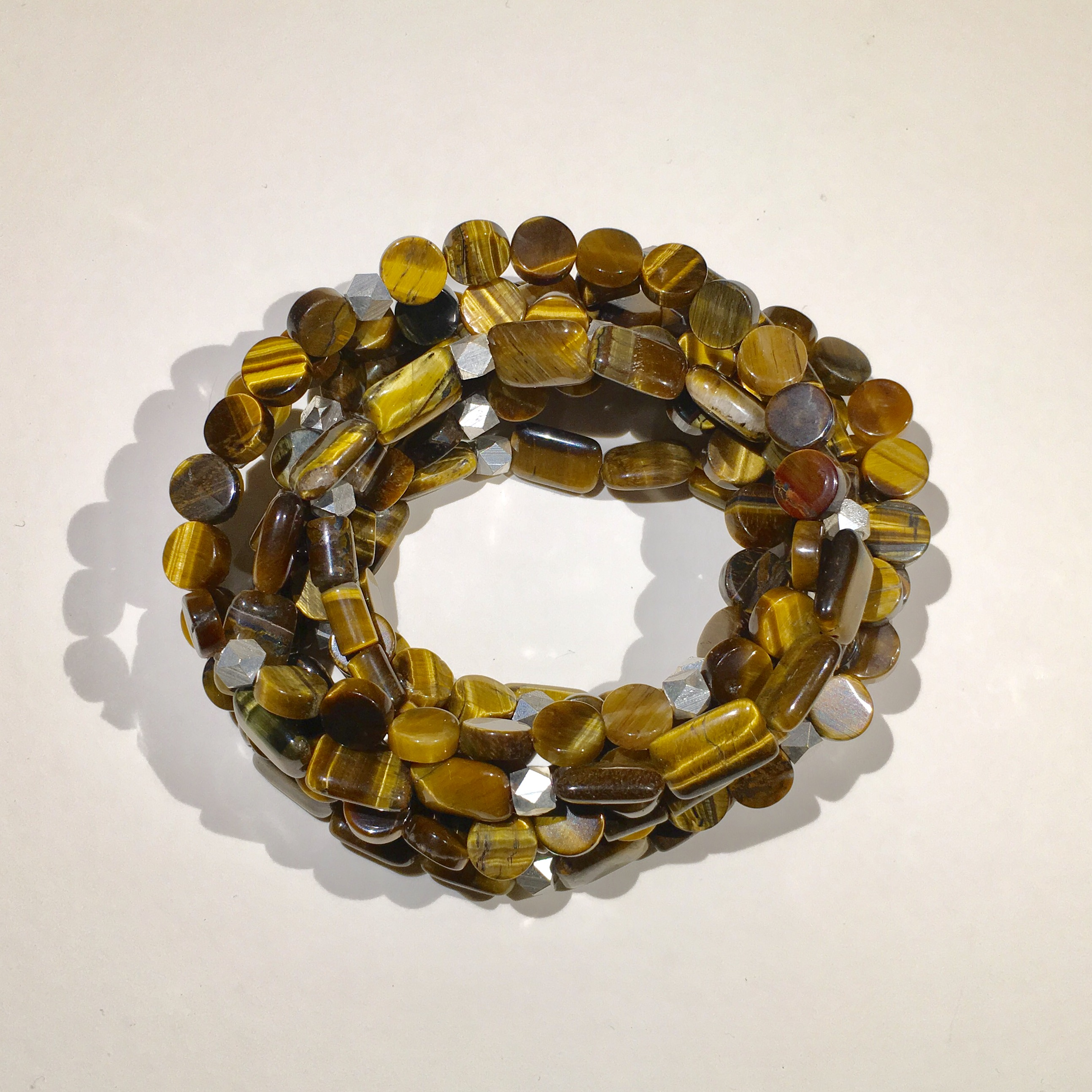 Tiger Eye and Sterling Silver Bead Slims