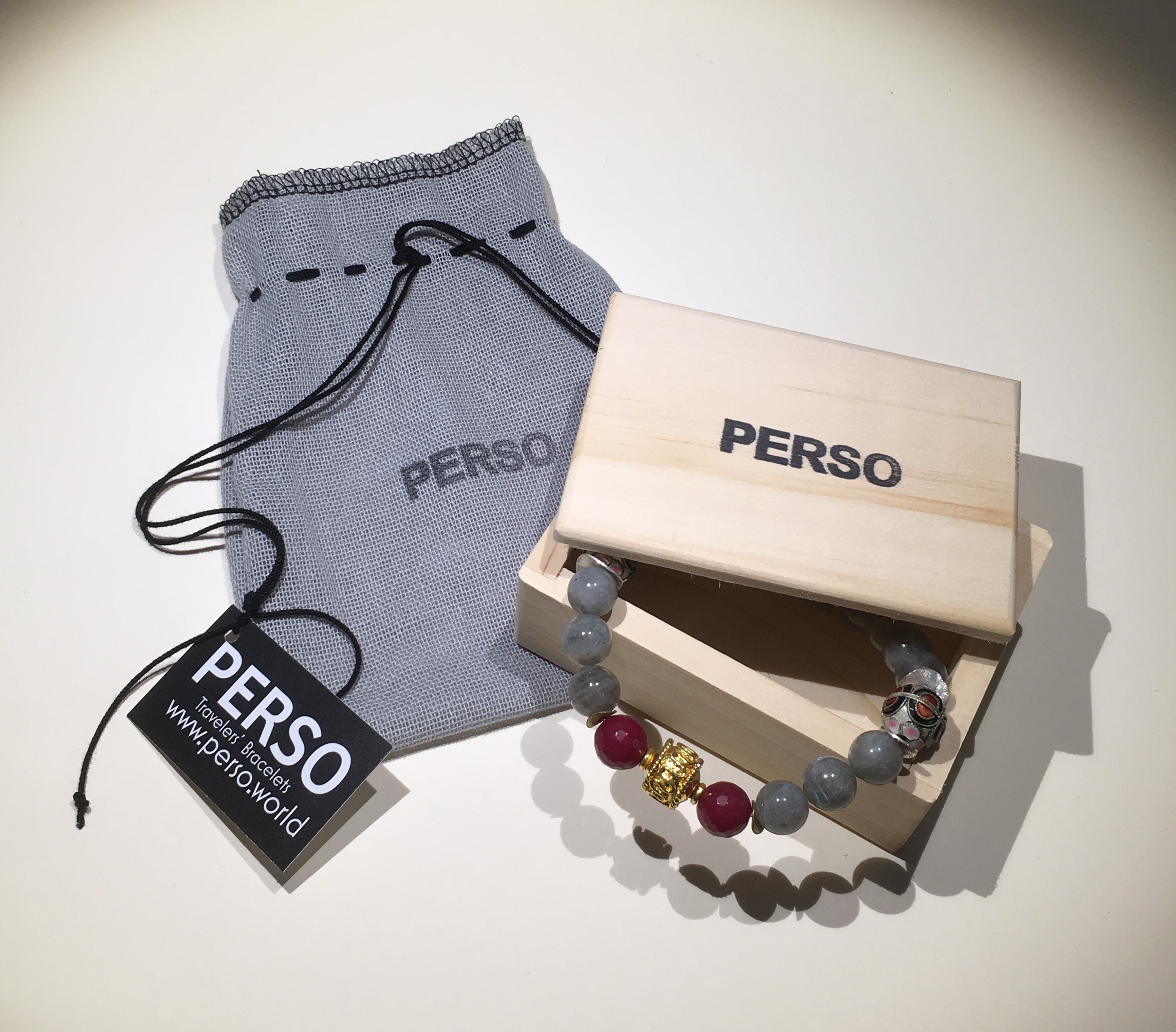 All Perso Bracelets are Limited Edition and include a safekeep bag and numbered box!